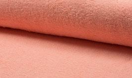 Handtuchfrottee uni lachs/flamingo