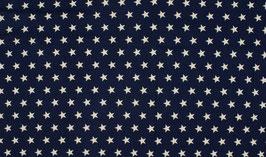 Sterne dunkelblau - Baumwollstoff