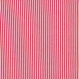 Schlauchbündchen Ringel rot-weiß