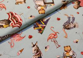 Hungry animals alphabet - Baumwollstoff Riley Blake