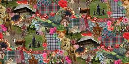 Schwarzwald Collage - Dekostoff