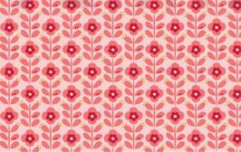 Graphic Flower hellrosa - beschichtete Baumwolle