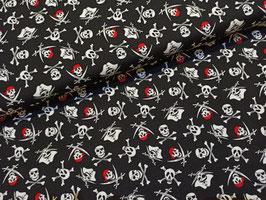 Pirate Tales Skulls Black - Baumwollstoff Riley Blake
