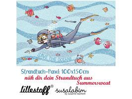 Strandtuch Taucher - Biosommersweat Lillestoff Susalabim