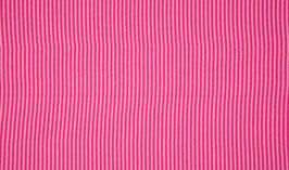 Schlauchbündchen Ringel fuchsia-rosa