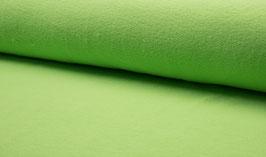 Baumwollfleece Fleece uni lime/hellgrün