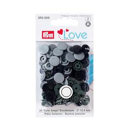 Color Snaps Druckknöpfe gemischt grau - 30 Stück - Prym Love