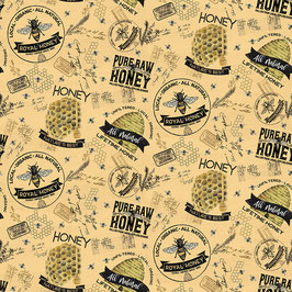 Honey Bee's Life main - Baumwollstoff Riley Blake