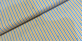 Streifen gelb/blau/weiß - Baumwollstoff Cosmo fabrics