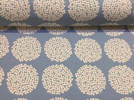 Blumenkugeln hellblau - Lightweight Canvas Kobayashi Japan