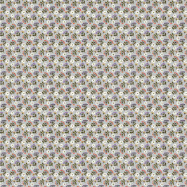 Streublumen steingrau - Micromodal Lillestoff