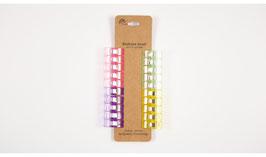 Stoffclips Stoffklammern klein - 20 Stück verschiedene Farben