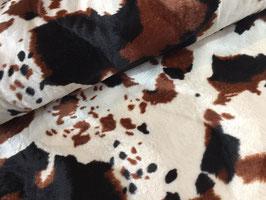 Kuh bunt - Faschingsstoff/Karnevalstoff Kunstfell