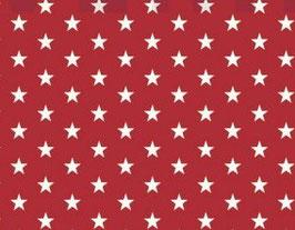 Sterne rot/weiß - beschichtete Baumwolle