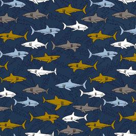 Electric sharks - Haie dunkelblau - Biojersey