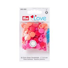 Color Snaps Druckknöpfe gemischt rot - 30 Stück - Prym Love