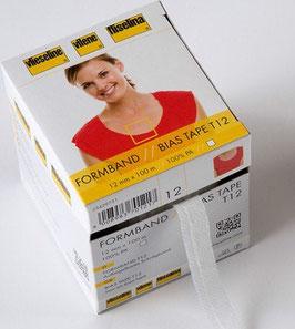 Vlieseline Formband 12 mm - weiß oder graphit - 1,0 m