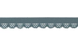 Spitzengummi/Unterwäschegummi, 12 mm - jeansblau