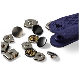 Nähfrei-Hosenhaken und Stege 13 mm silberfarbig/brüniert - 4 Stück - Prym