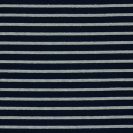 Ringel dunkelblau/grau mit Glitzer - Streifen gestreift - Wintersweat