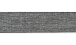 Elastisches Band, Gummiband, 25 mm weich - hellgrau meliert