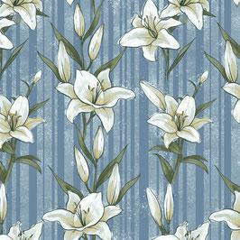 Lilysdream rauchblau - Lilien - Micromodal Lillestoff