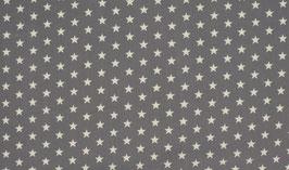 Sterne grau/weiß - Baumwolljersey