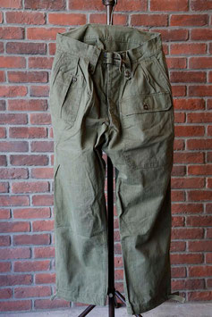 1950's BRITISH ARMY SURVIVAL HBT PANTS