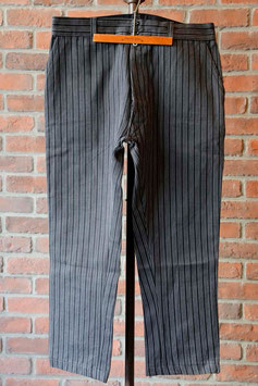 1940's FRENCH STRIPED COTTON WORK TRUSER