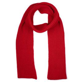 Sciarpa Maglia Inglese Misto Cashmere Rosso