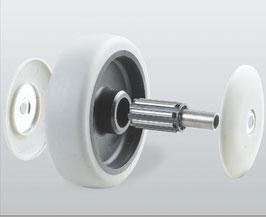 Колеса и ролики из термопластичной серой резины серия 32 STANDART