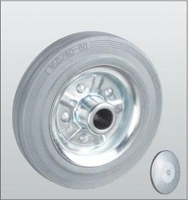Колеса и ролики из стандартной серой резины серия 15 STANDART