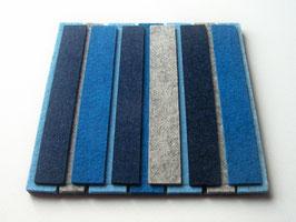 Superdicker Wollfilz Untersetzer, 21x21cm, 1cm dick! blau-grau