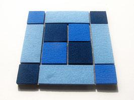 Superdicker Wollfilz Untersetzer, 20x20cm, 1cm dick! blau