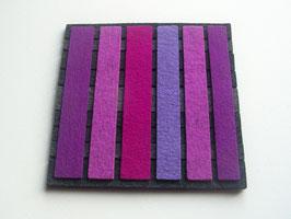 Superdicker Wollfilz Untersetzer, 20x20cm, 1cm dick! lila-malve-lavendel-grau