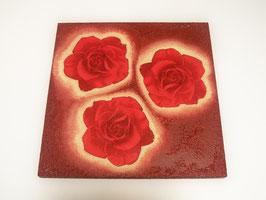 Bild Rote Rosen, 30 x 30cm