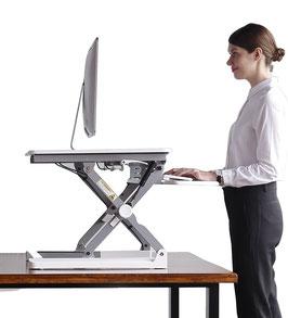 Adjustable Sit-Stand Desk Riser 2.