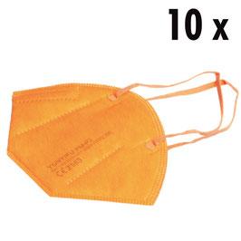 FFP2 Maske orange (10 Stück)