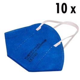 FFP2 Masken blau (10 Stück)
