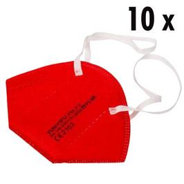 FFP2 Maske rot (10 Stück)