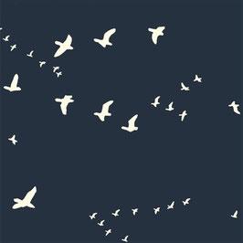 Birch Organic Fabrics / Bear Flight / Dusk / Popeline / REST 50 x 110 cm