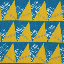 Echino / Hill / Sunny Yellow Blue / Double Gauze