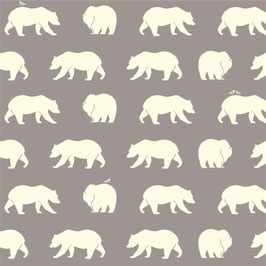 Birch Organic Fabrics / Bear Hike / Shroom / Canvas
