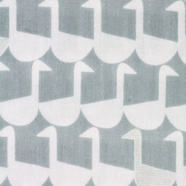 Ellen Baker für Kokka / Framework / Sitting Geese / Grey / Double Gauze