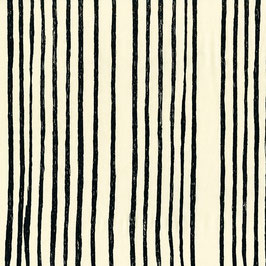 Nani Iro Nani Iro / BEAU Yin Yang  / AAAA SAAA Noir / Off-white / Satinierter Baumwollstoff