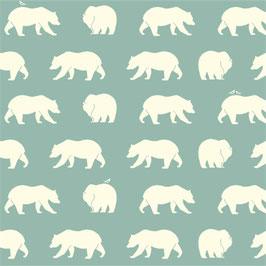 Birch Organic Fabrics / Bear Hike / Mineral / Popeline