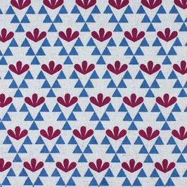 Ellen Baker für Kokka / Garden / Triangel Flowers / Blue