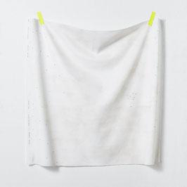 Nani Iro / Peinture a l'eau Alphabet / D / Herringbone Canvas / Leinen-Baumwollstoff