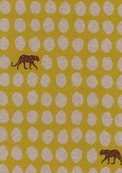 Echino / Leopard Dots / Yellow / Jersey Jacquard