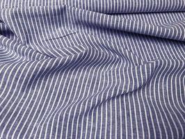 Sommerleinen / Jeans Blue Stripe